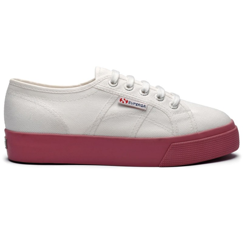 Superga suela 3 cm Blanca suela Dusty