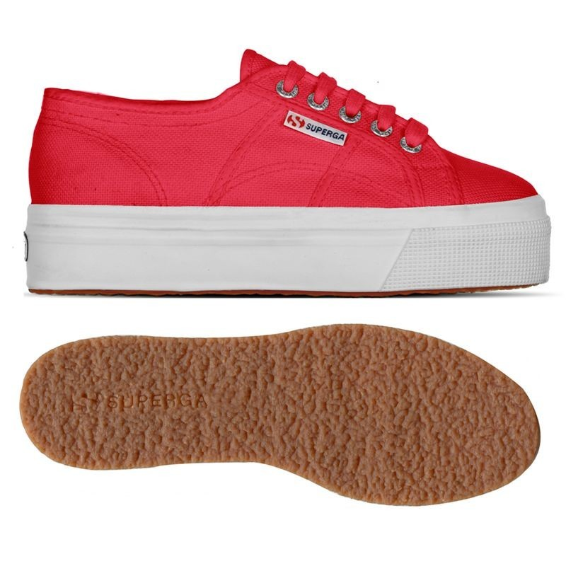 2790ACOTW LINEA UP AND DOWN, 20386, LADY SHOES S0001L0 C90 RED-WHITE
