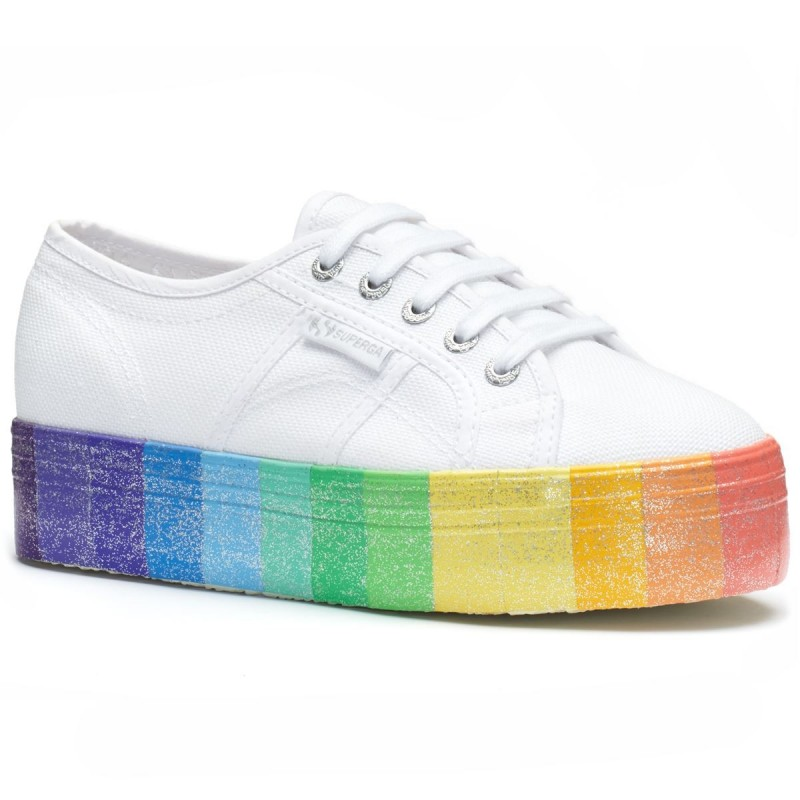 2790-COTWMULTICOLORGLITTER, 20387, LADY SHOES S1118DW L23 WHITE-MULTI