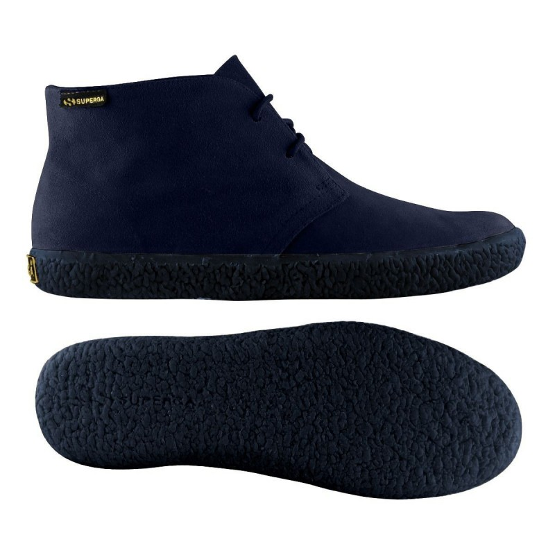 Superga bota mid top ante azul