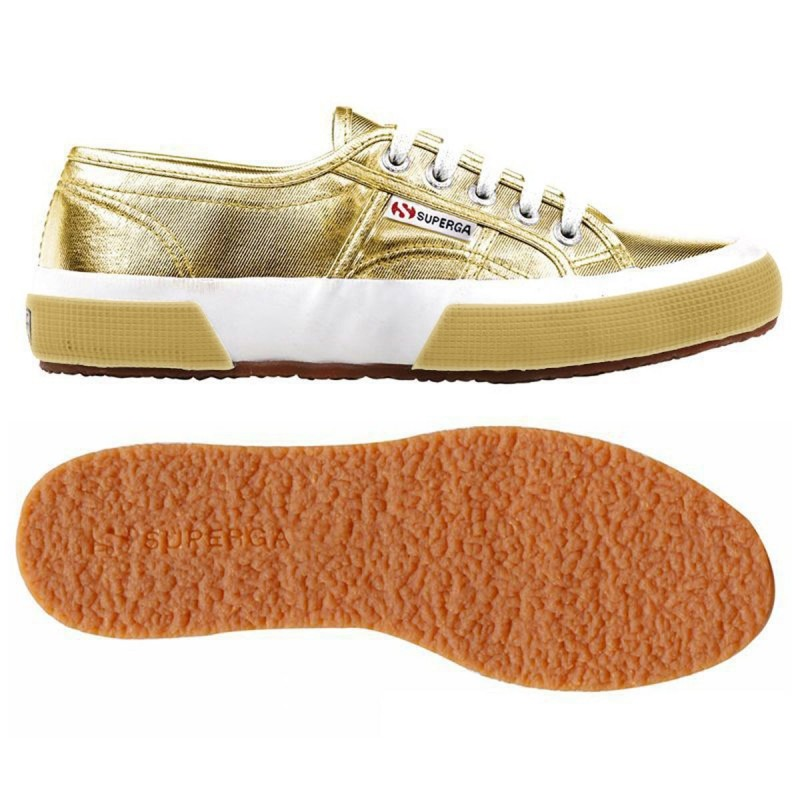 Superga doradas orange gold