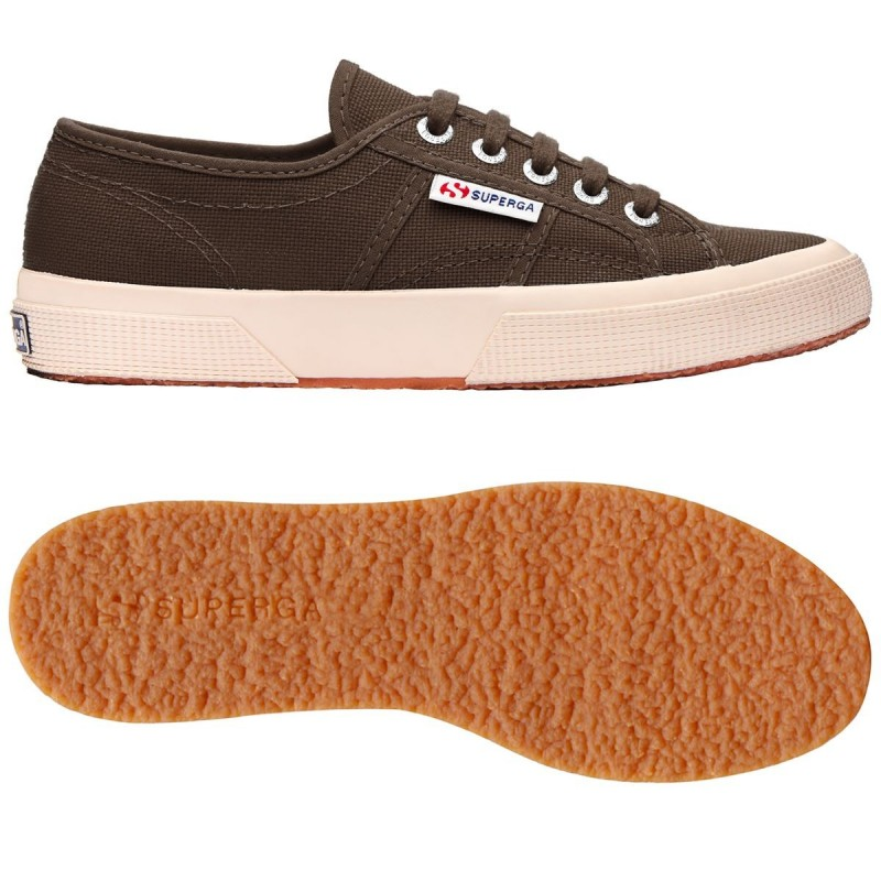 Superga clásica 2750 DARK COFFEE