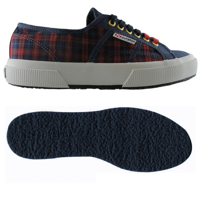 2750-ITALIANSHIRT COTM, 14358, LE SUPERGA S00BP00 914 SQUARES RED