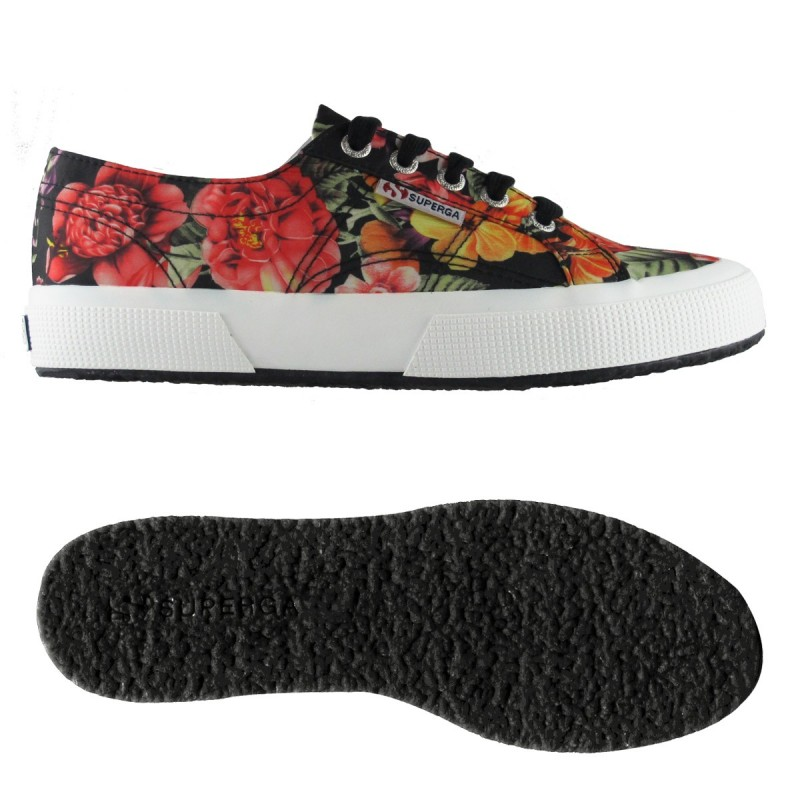 2750-FABRICFLOWERW, 14358, LE SUPERGA S00BQX0 A48 MULTICOLOR