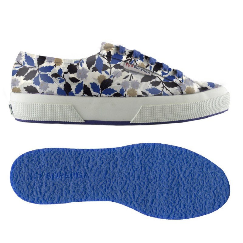 2750-FABRICLIBERTYW, 14358, LE SUPERGA S00BRK0 952 FLORAL BLUE