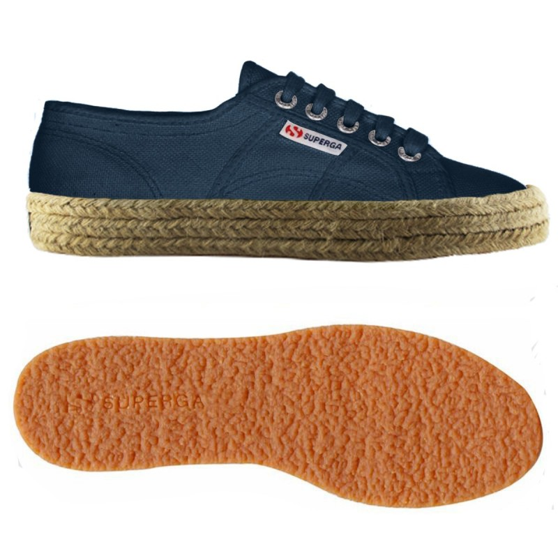 Superga esparto azules